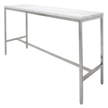 6ft bar table - Silver