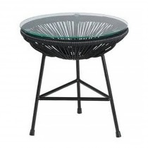 Acapulco Coffee/Side Table - Black