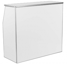 4ft Laminated white - Folding bar