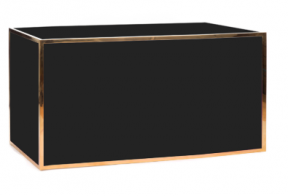 6ft Black and Gold Bar