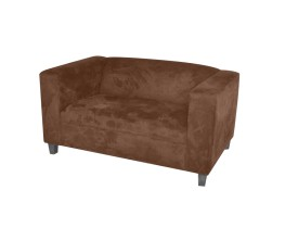 Brown suede - Love seat