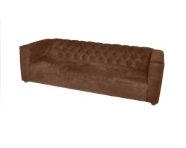 Brown suede - Sofa for 3