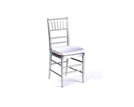 Silver chiavari with cushion