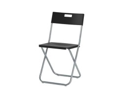 Folding chair- Black metal