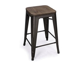"29"" Industrial stool - Siver"