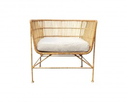 Natural Rattan Chair with linen