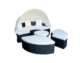 Outdoor  rattan round set for 7