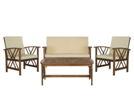 Outdoor wood set for 4