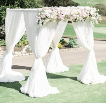 10' x 10' x 8' - Pipe & Drape Cabana  ( Flowers not included)