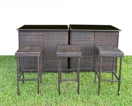 6ft Outdoor Rattan Bar -