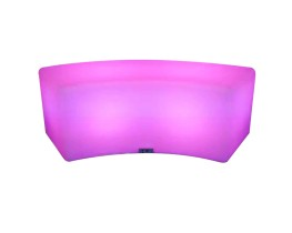 Led curved ottoman for 2