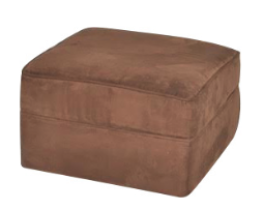 Brown suede - ottoman for 1