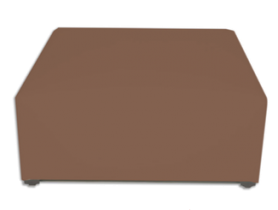 Brown suede - ottoman for 4