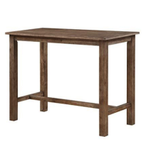 "Wood Pub Table - 36"" x 47.25"" x 23.75"""