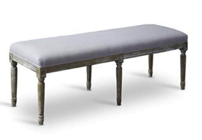 Beige linen french style bench