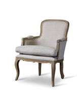 Neutrail linen french chair