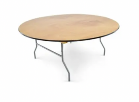 """72"""" Round table for 10 - No tablecloth included"""