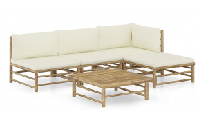 Bamboo outdoor lounge set