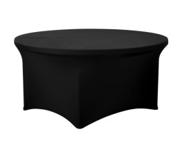 "60"" Round dinning table with spandex cover - Black"