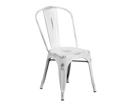 Vintage white - Metal chair